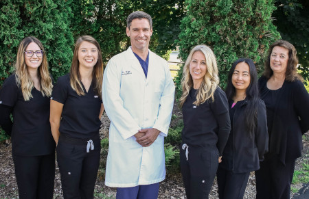 Doctor and staffs at Shoreline Periodontics and Implant Dentistry Office.